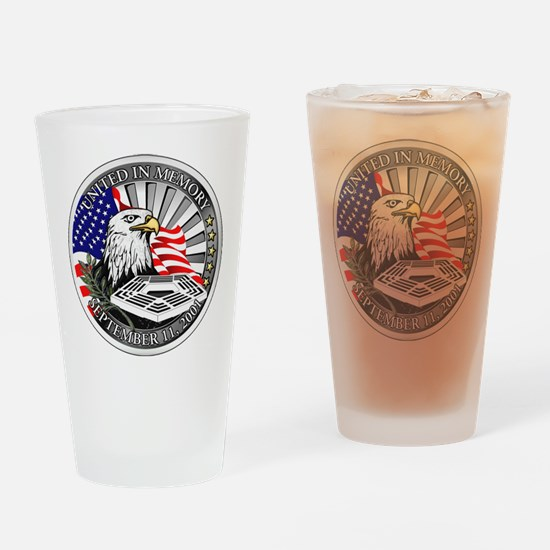 9/11 Memorial Drinking Glass