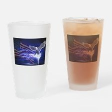 Eagle Storm Drinking Glass