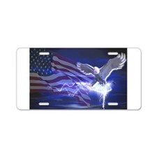 Eagle Storm Aluminum License Plate