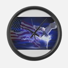 Eagle Storm Large Wall Clock
