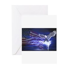 Eagle Storm Greeting Card