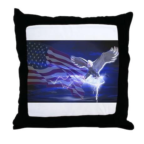 Eagle Storm Throw Pillow