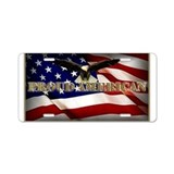 American flag and eagle License Plates