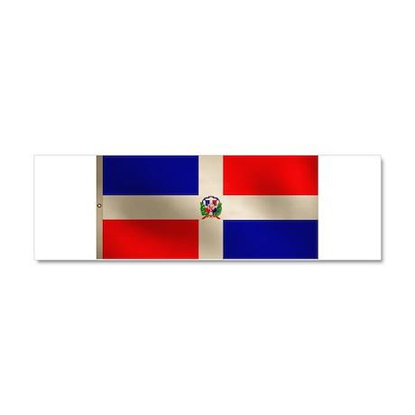Dominican Flag Car Magnet 10 x 3