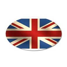 British Flag 22x14 Oval Wall Peel
