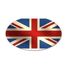 British Flag 22x14 Oval Wall Peel