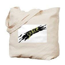 Saber Black Tote Bag