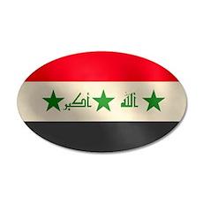 Iraqi Flag 22x14 Oval Wall Peel