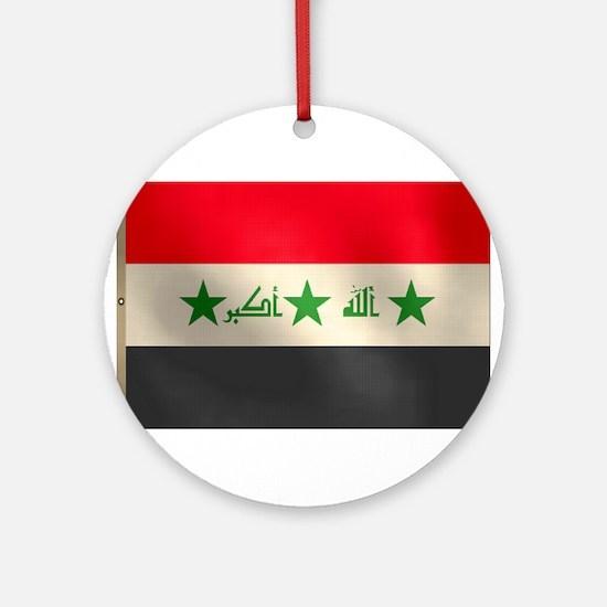 Iraqi Flag Ornament (Round)