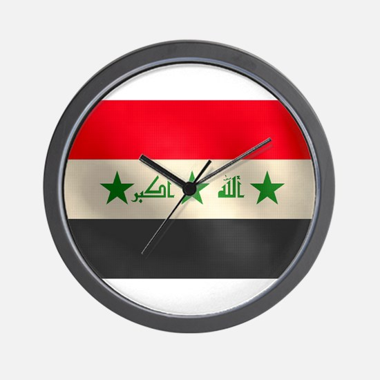 Iraqi Flag Wall Clock