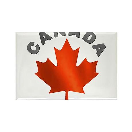 Canadian Maple Leaf Rectangle Magnet (100 pack)