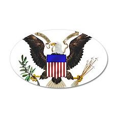 U.S. Seal 22x14 Oval Wall Peel