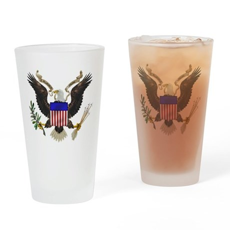 Great Seal Eagle Drinking Glass
