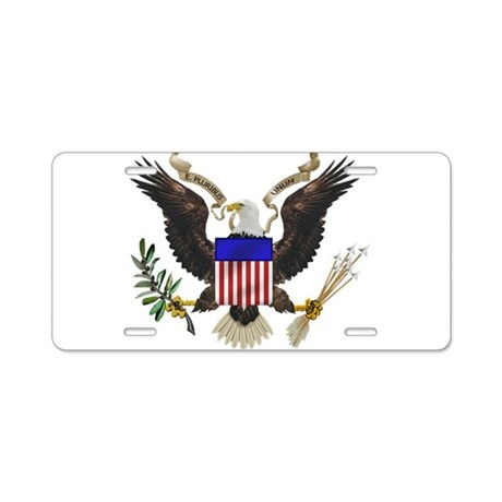 Great Seal Eagle Aluminum License Plate