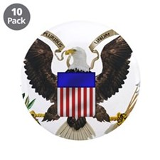 """Great Seal Eagle 3.5"""" Button (10 pack)"""