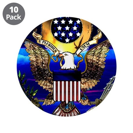 """US Seal Drinkware 3.5"""" Button (10 pack)"""