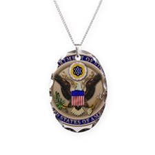 State Dept. Seal Necklace Oval Charm