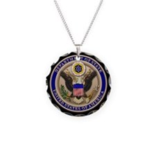State Dept. Seal Necklace Circle Charm