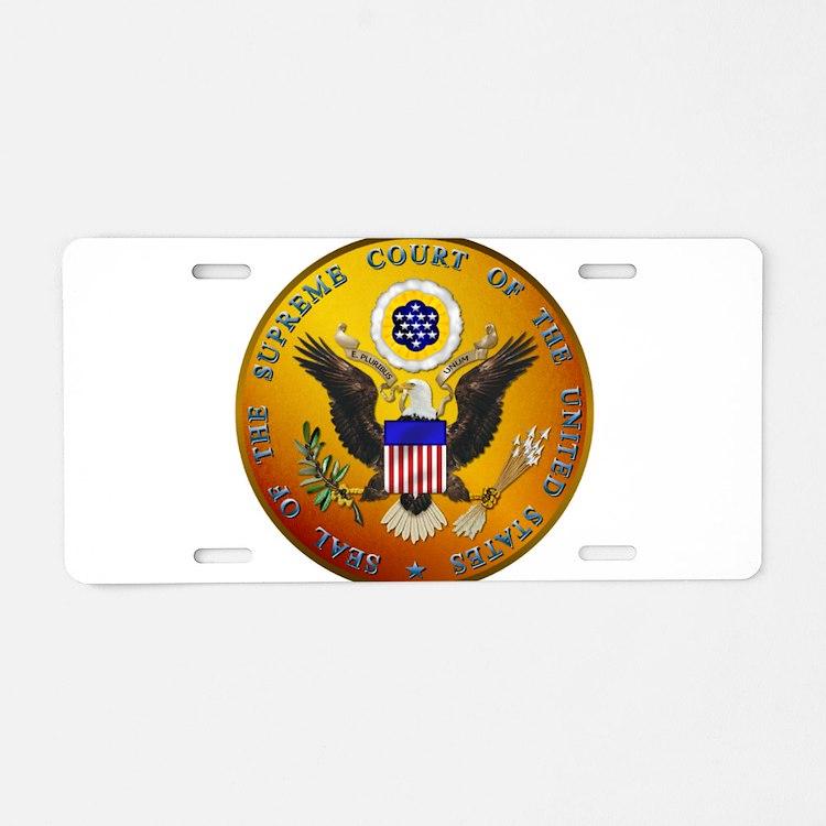 US Supreme Court Aluminum License Plate
