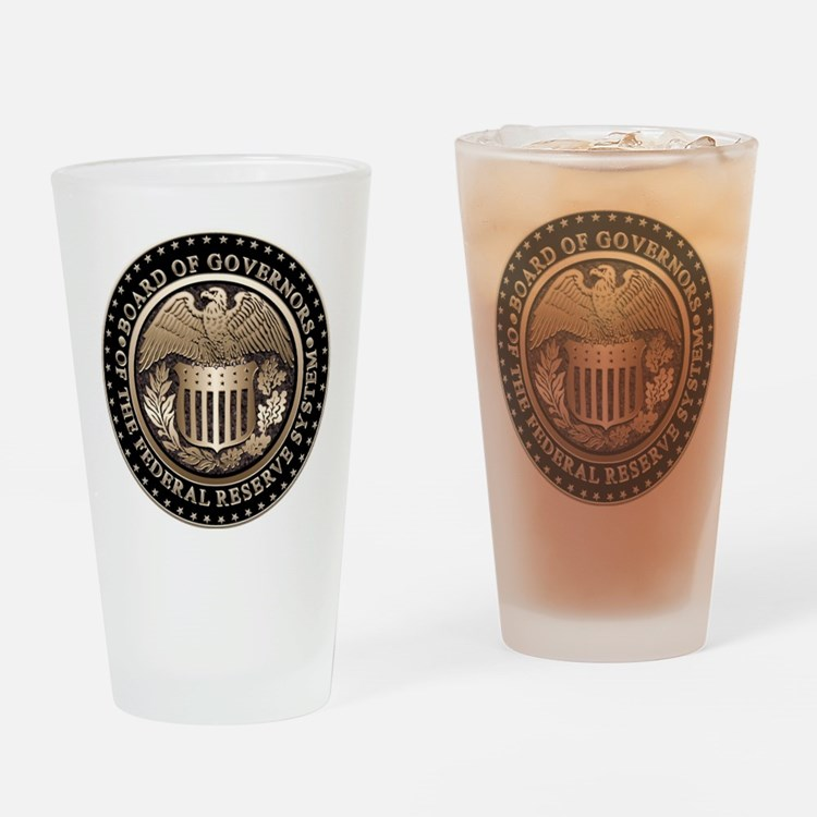 Federal Reserve Drinking Glass
