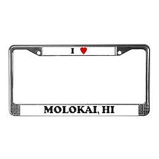 I Love Molokai License Plate Frame