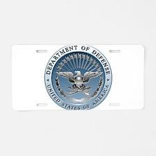D.O.D. Aluminum License Plate