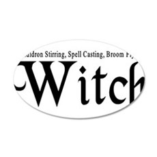 Witch 22x14 Oval Wall Peel