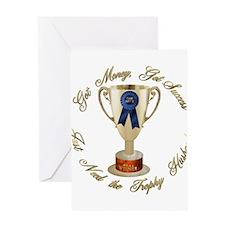 Need Trophy Husband Greeting Card