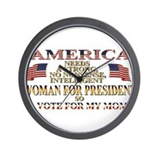 A Woman For President Wall Clock