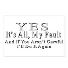 My Fault Postcards (Package of 8)