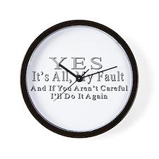 My Fault Wall Clock
