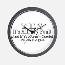 My Fault Wall Clock