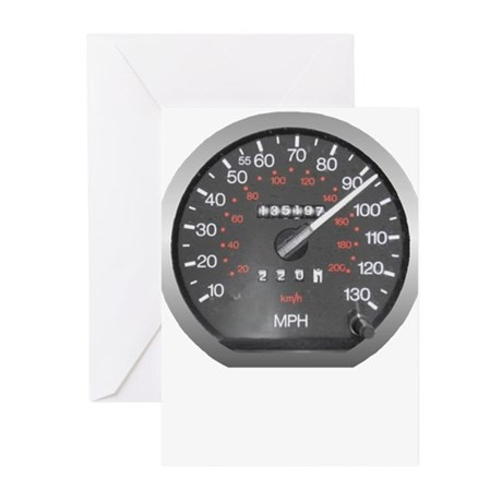 90 mph Greeting Cards (Pk of 10)