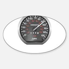 90 mph Sticker (Oval)