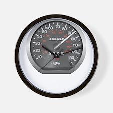 90 mph Wall Clock