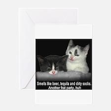 Frat Cat Greeting Card