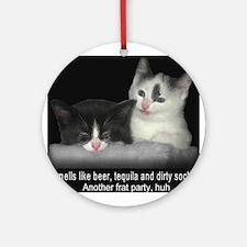 Frat Cat Ornament (Round)