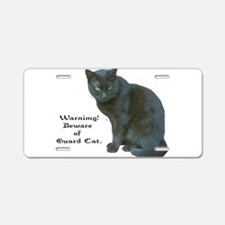 Guard Cat Aluminum License Plate
