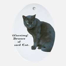 Guard Cat Ornament (Oval)