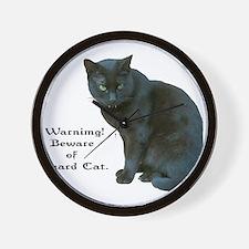 Guard Cat Wall Clock