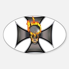Flaming Skull Decal