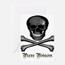 Pure Poison Skull Greeting Card