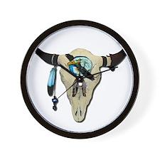 Steer Skull Wall Clock