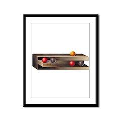 Optical Shelves Framed Panel Print