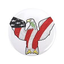 """Flagged Eagle 3.5"""" Button"""