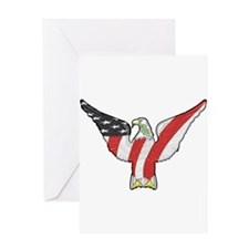 Flagged Eagle Greeting Card