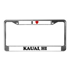 I Love Kauai License Plate Frame