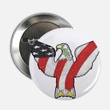 """Flagged Eagle 2.25"""" Button (100 pack)"""