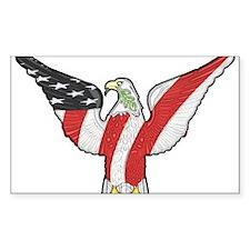 Flagged Eagle Decal