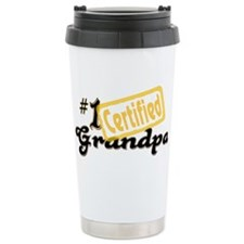 Certified #1 Grandpa Travel Coffee Mug